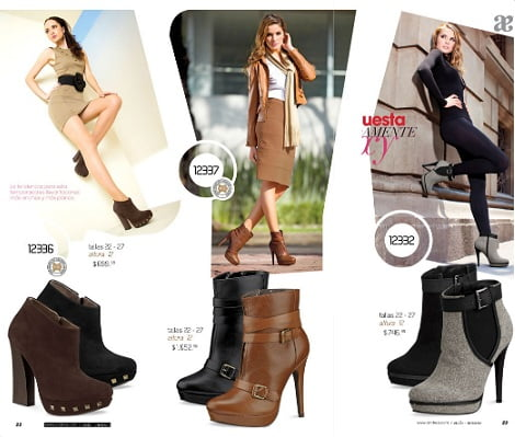 catalogo zapatos andrea otoño invierno 2012 2013 botines tacon